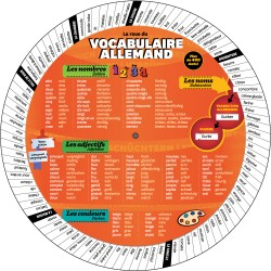Roue du vocabulaire allemand - recto