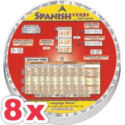 8 x Spanish Verbs Wheel